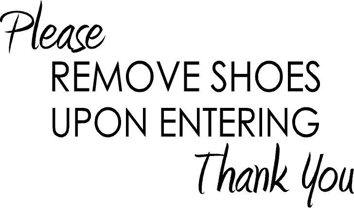 photograph about Please Remove Your Shoes Sign Printable Free titled Be sure to Acquire Off Your Footwear In advance of Coming into Indication