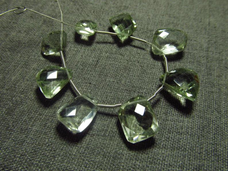 Huge Size High Quality So Gorgeous Green Amethyst Super Sparkle Fancy Cut Stone Briolett 8 pcs 8x11-9x12 mm