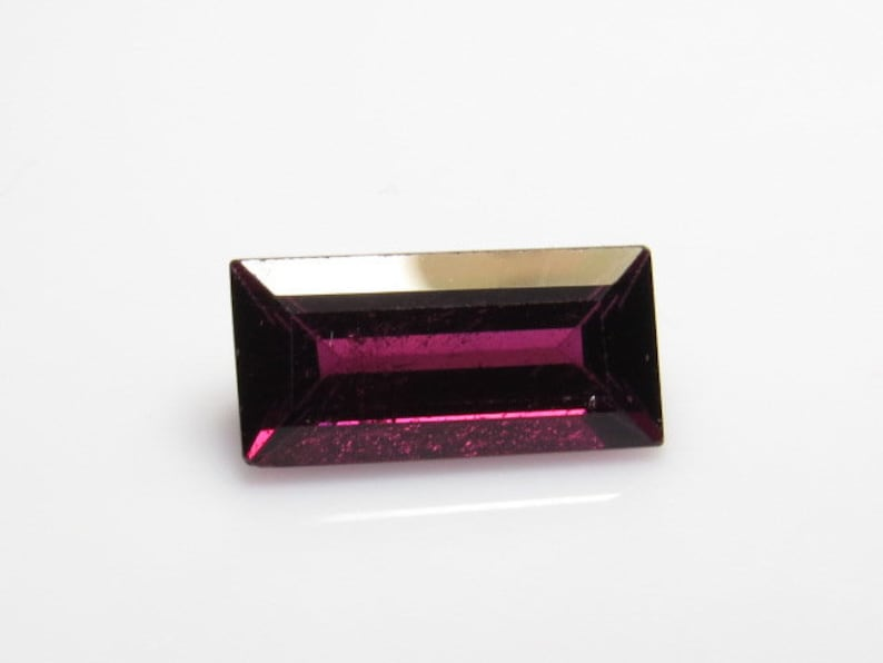size 7x13.5 mm Ractangular Cut stone Amazing Color and Clearity 5.00 crt RHODOLITE Garnet Fine Cut Natural Pink Color