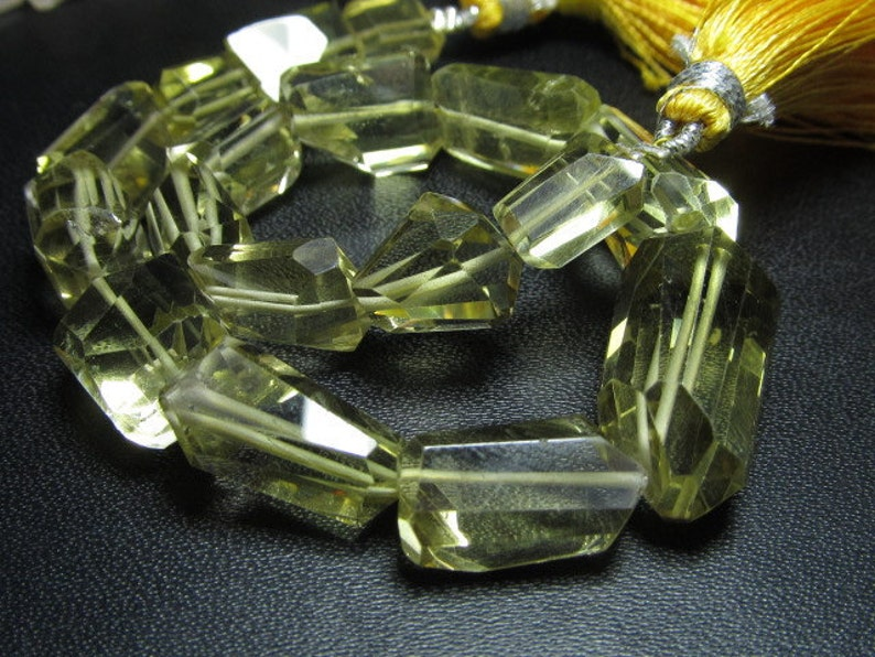 8 inches 18-8 mm approx High Quality Gorgeous Yellow Lemone Quartz faceted Nuggest nice clear nice pink Huge size AAA
