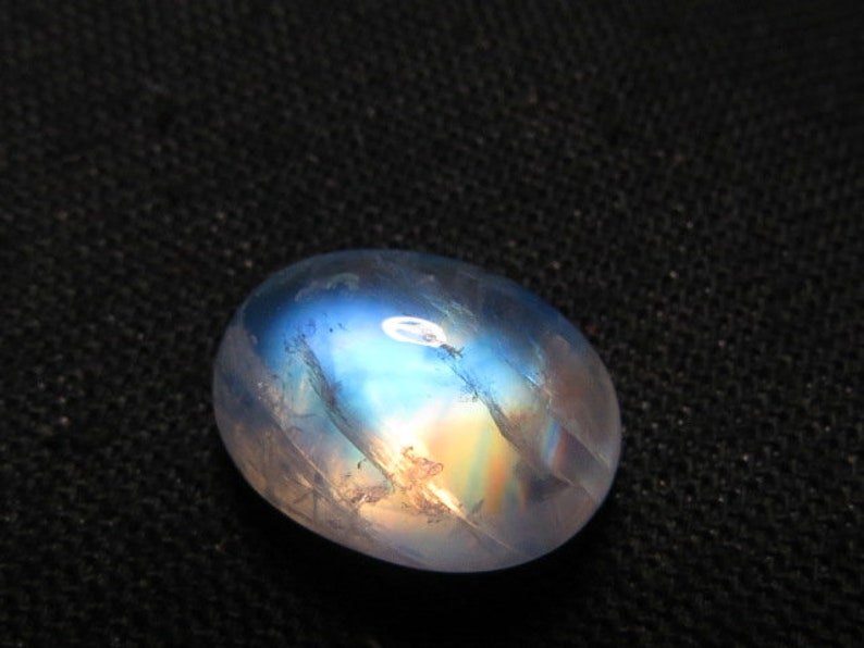 High Quality So Gorgeous amazing Cabochon amazing Strong Flash Fire Huge size 12x16 mm Height 8 mm Rainbow Moonstone AAAA