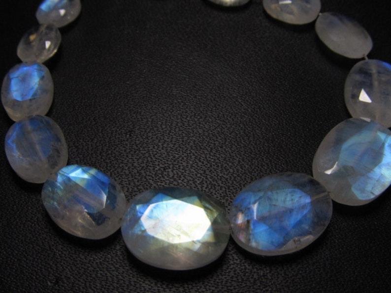 AAAA Rainbow Moonstone Cabochon Gorgeous Rainbow Blue Full Flashy Fire size 10x15mm High Grade Quality