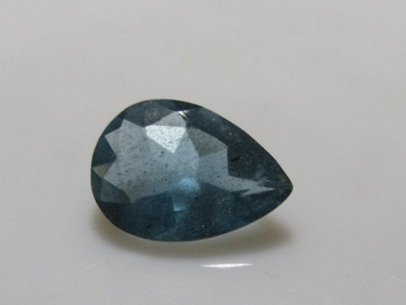 MOSS AQUAMARINE Pear Cut Fine  Stone Natural  Blue Excellent Fine Cut Faceted Sparkle High Quality size 7x9.5 mm