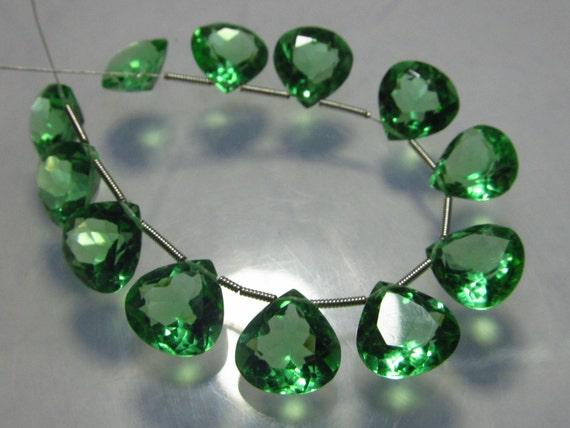 Opalite Quartz 5 Matched Pairs Brand New Faceted Heart Briolettes amazing Gorgeous sparkle Huge Size 10x10 mm