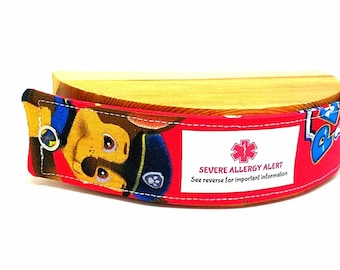 Kids Medical Alert Bracelet Child ID Bracelet Allergy Alert Clothing Autism Safety Band Paw Patrol