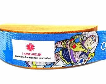 Medical ID Bracelet Kids Allergy Bracelet Autism Awareness Child Safety Autism Wristband Toy Story
