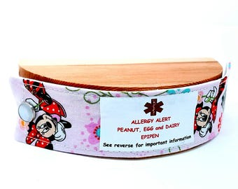 Child Medical Alert Bracelet Safety Autism ID Bracelet Kids Autism Safety Band Baby Allergy Alert Minnie Mouse Clothing