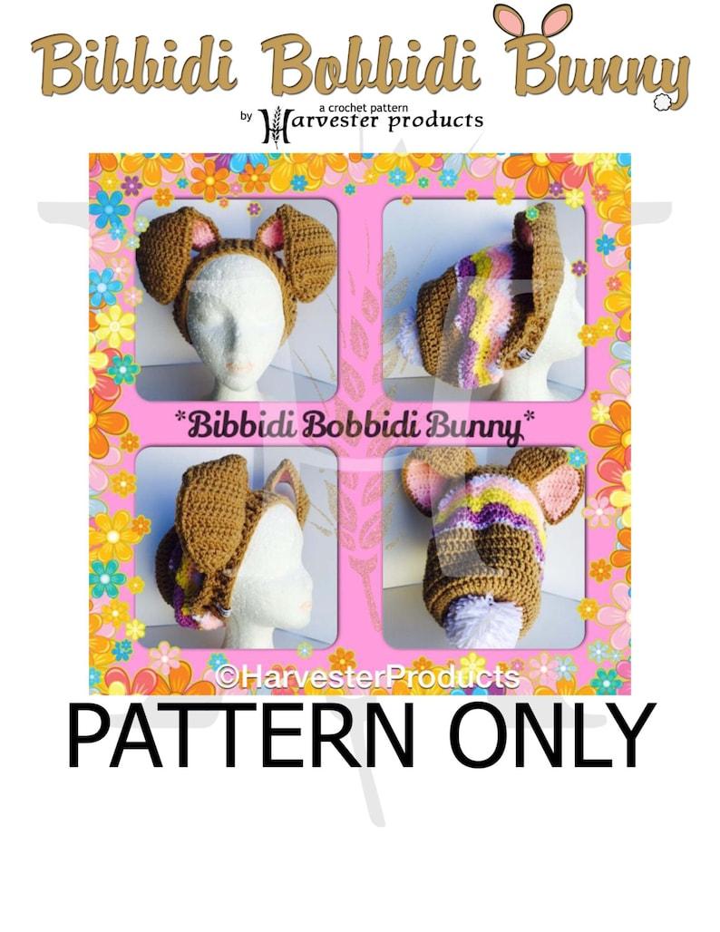 Bibbidi Bobbidi Bunny Crocheted Slouch Hat Pattern image 0