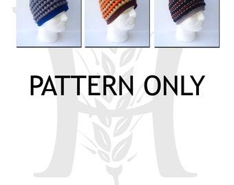 August Woods Textured Beanie for Guys Crochet Pattern