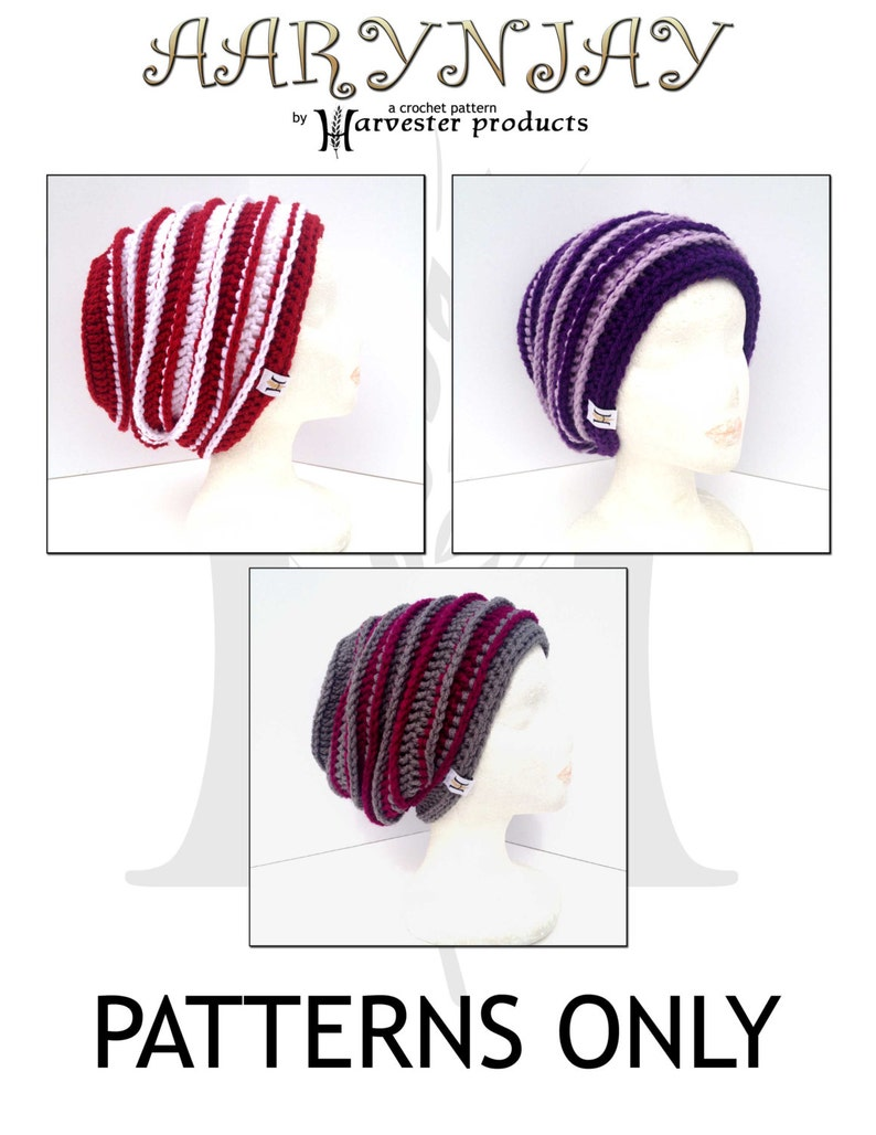 Aarynjay Textured Slouch Hat Crochet Pattern for Women image 0