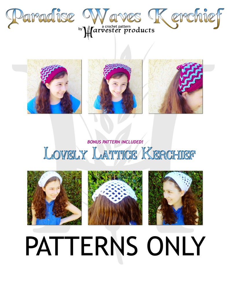 Paradise Waves Kerchief Crochet Pattern for Girls and Women image 0