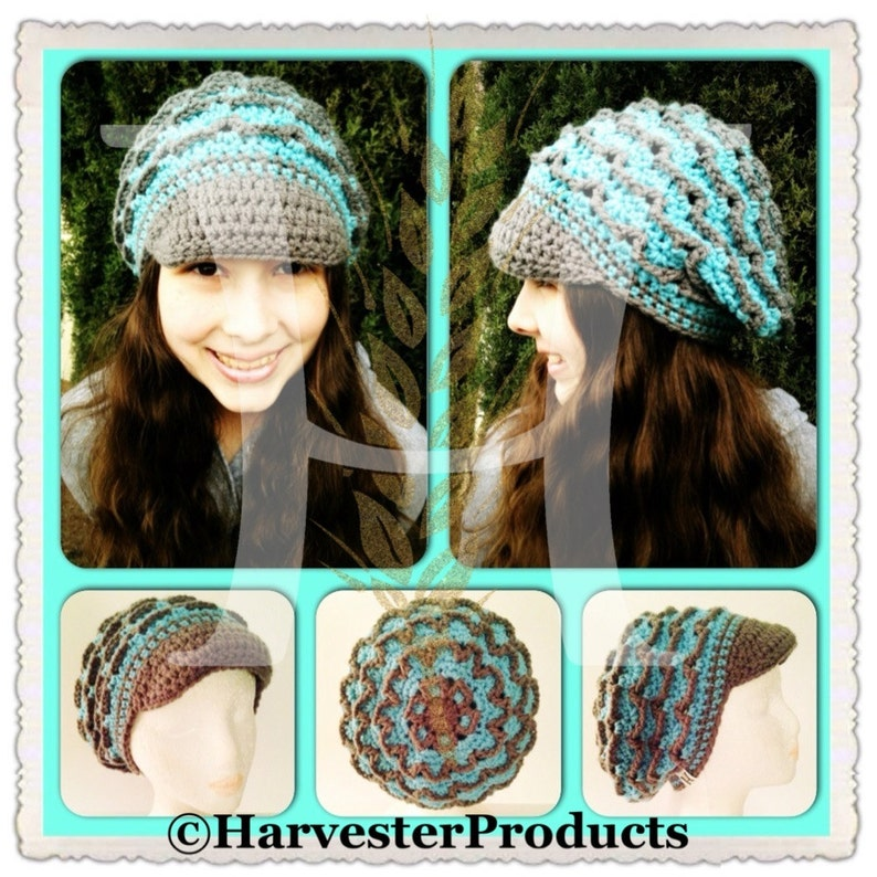 Custom Crocheted Spellbound Slouch Hat with Brim PATTERN by image 0