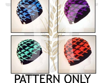 Hoist the Colors Crocheted Textured Beanie Hat Pattern for Men and Women