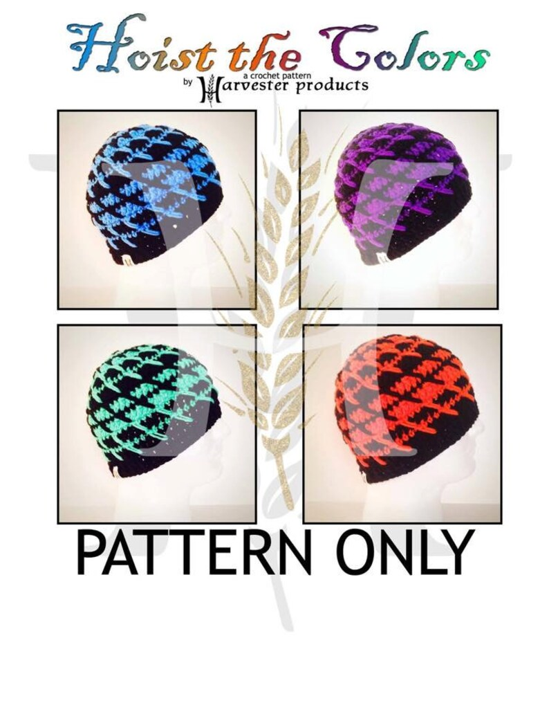 Hoist the Colors Crocheted Textured Beanie Hat Pattern for Men image 0