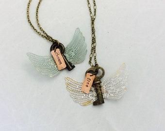 Vintage KeyNote Wings Necklace