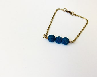 Teal Essential Oil Diffuser Bracelet