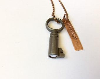Vintage KeyNote Courage Necklace