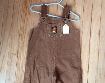 Corduroy Overalls Kids Boys Vintage Childs Toddler 4 5