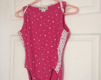 80s Pink Leotard Dance Dancer Body Suit Active XS
