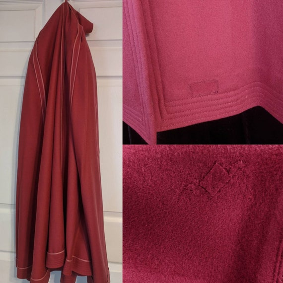 Antique Pink Hooded Cloak Cape Vintage Jacket 20s… - image 10
