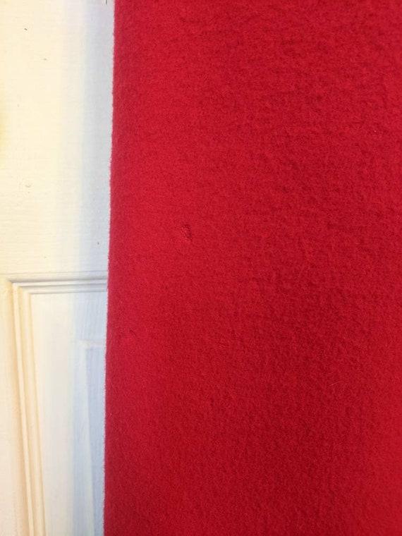 80s Red Winter Coat Wool Donnybrook Velvet Trim R… - image 10