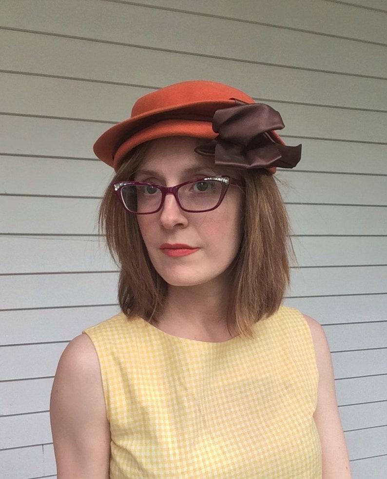 Dark Orange Hat Wool 40s Glenover Henry Pollak Vintage