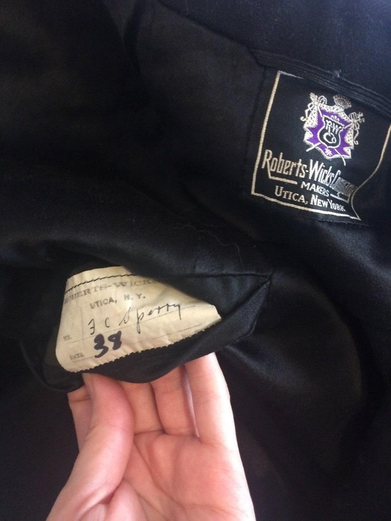 30s Mens Dinner Jacket Tuxedo Jacket Robert Wicks Vintage Satin Wool 38