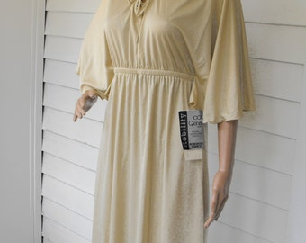 70s Lace Bohemian Dress Ivory Qiana New Vintage Toni Todd S