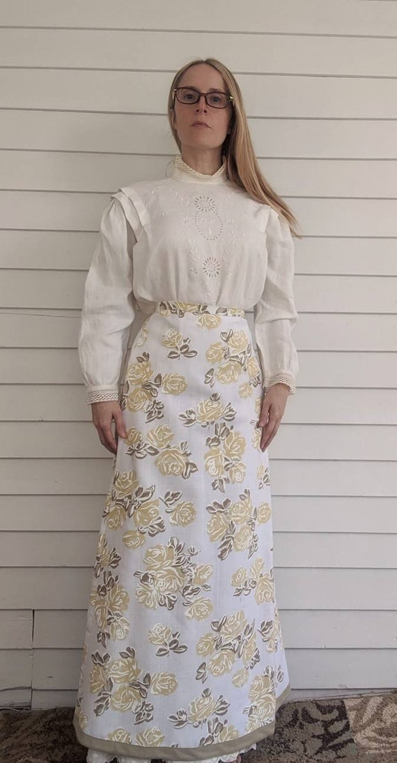 Antique Edwardian Blouse Eyelet Embroidered Butto… - image 10