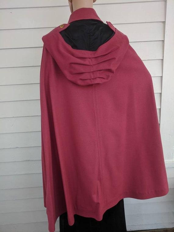 Antique Pink Hooded Cloak Cape Vintage Jacket 20s… - image 7