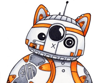 BB-Cat - Star Wars Art Print Illustration - 8x10
