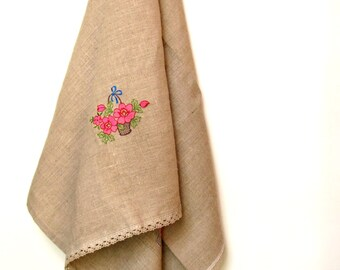 Natural Linen Sauna Bath Towel, Embroidered towel, Bath towel, Washcloth, Bathroom, Linen towels, Bathroom decor, Linen towel, Bath Gift