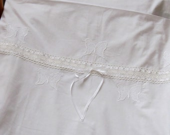 Cotton Baby Bedding, Nursery Bedding, Baby, Babies, White, Embroidered with Laces and Bands, Cotton, Baby, Baby girl, Toddler bedding