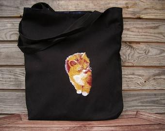 Linen Tote Bag, Embroidered Bag, Natural linen, Medium size, Grocery Reusable Bag, Eco-friendly, Natural Beach Tote Bag