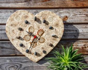 Juniper Wood Clock, Natural Handmade Wall Clock, Large Wooden Clock, Unique Gift, Untreated Wood
