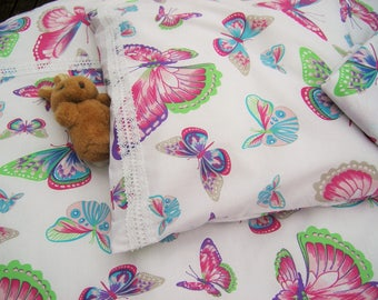 Baby Bedding, Nursery Bedding, Cotton baby bedding, Baby girl bedding, Cotton, Baby, Baby girl, Baby nursery, With Lace Butterfly pattern