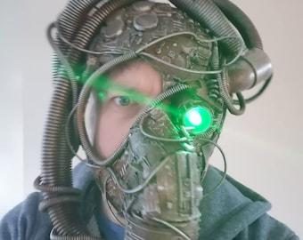 Cyberpunk plague mask. Plague marine helmet