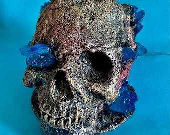 Geode skull. Led lit sculpture