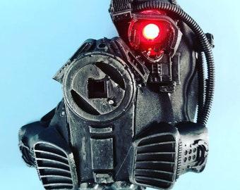 Cyberpunk dark jedi star wars resporator mask with bionic eye Cosplay piece