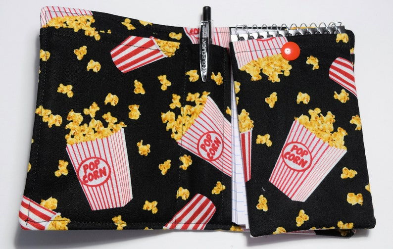 Mini Notebook Set,Your Choice of Daffodils,Theater Popcorn or Hummingbirds,Purse Notes,Lightly Quilted,4 Piece Set,Removable Notebook Cover