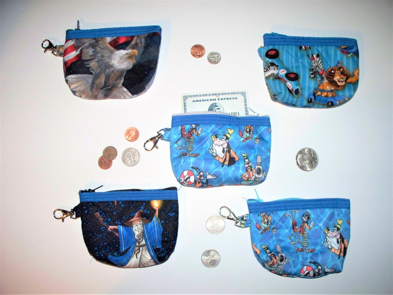 Disney Goofy Madagascar Coin Pursesquilted Insideoutkey Etsy