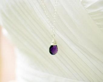 February Birthday, Gemstone Necklace, Purple Amethyst, Amethyst Necklace, Long Necklace, February Birthstone, Purple Necklace, Amethyst