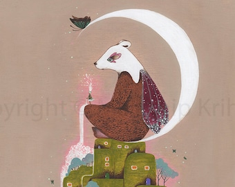 Giving Moon - art print