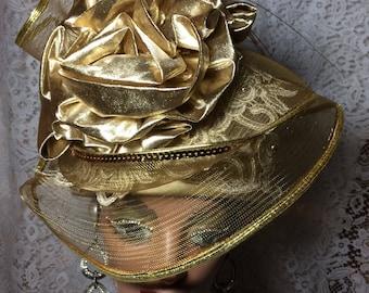 Big Beautiful  Gold Hat