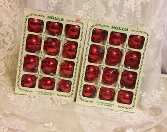 2 Dozen Holly Christmas  Ornaments