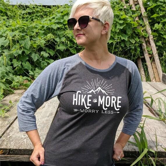 Hike More Worry Less Hiking Shirt Hiking Tee Shirt Hiking Gift Adventure Shirt Hiker Shirt Hike That Shirt