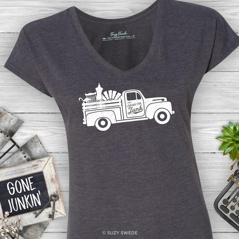 I Brake For Junk VintageShabby ladies junkin shirt flea image 0