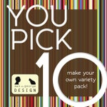 Pick Ten (10) Fun & Modern Greeting Cards - Make Your Own Variety Pack on 100% Recycled Paper