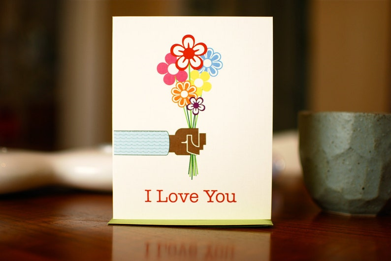 Bouquet of Love Card with Black / Brown Hand Because Everyone image 0