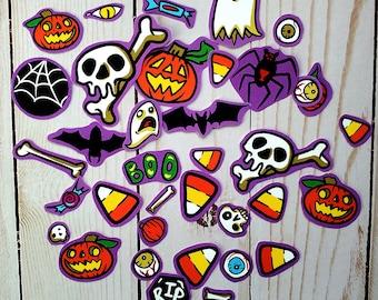 Paper Halloween Spooky Season Fall Journal Collage Scrapbook Journaling Sticker Pack Candy Corn Ghost Jackolantern Pumpkin Autumn Aesthetic